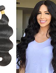 cheap -1 Bundle Hair Weaves Peruvian Hair Body Wave Human Hair Extensions Virgin Human Hair Natural Color Hair Weaves / Hair Bulk 10-30 inch 7a / 10A
