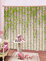 cheap -British Style 3D High Definition Printing Waterproof Light-proof And Dust-proof Curtain Bedroom And Living Room Soundproof Pure Polyester Curtain
