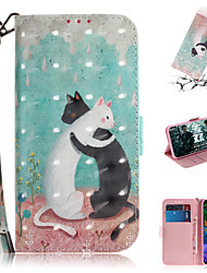 cheap -Case For LG LG V40 / LG G8 Wallet / Card Holder / with Stand Full Body Cases Animal / 3D Cartoon PU Leather