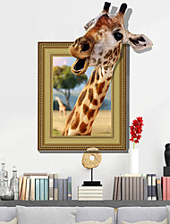 cheap -Animals / 3D Wall Stickers Plane Wall Stickers Decorative Wall Stickers, PVC Home Decoration Wall Decal Wall Decoration 1pc / Removable 60*90cm