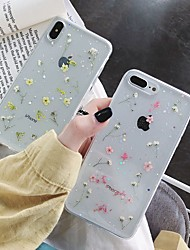 cheap -Case For Apple iPhone XS / iPhone XR / iPhone XS Max Shockproof / Transparent / Pattern Back Cover Flower TPU