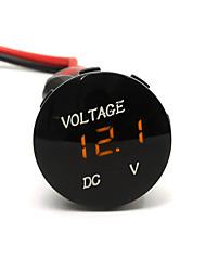 Недорогие -dc12v водонепроницаемый светодиодный дисплей цифровой панели вольтметр электрический измеритель напряжения с 20 см кабель для автомобиля мотоцикл внедорожник