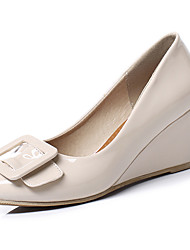 cheap -Women's Heels Wedge Heel PU(Polyurethane) Fall / Spring & Summer Black / Beige / Pink