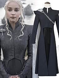 cheap -Dragon Mother Game of Thrones Daenerys Targaryen Dress Cosplay Costume Men's Women's Movie Cosplay Gray & Black Top Skirt Cloak Halloween Carnival Oktoberfest Beer Flannelette / More Accessories