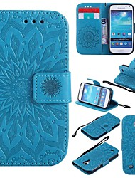 cheap -Case For Samsung Galaxy S4 Mini Shockproof / with Stand Full Body Cases Flower Hard PU Leather