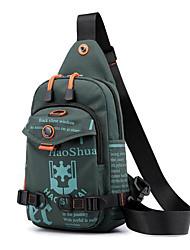 Недорогие -Муж. Молнии Нейлон Слинг сумки на ремне Темно-синий / Темно-зеленый / Цвет радуги