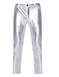abordables -Homme simple Mariage Collants Pantalon - Lolita Polyester Noir M