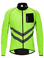 Недорогие -Wosawe светоотражающий watorproof велосипед велосипед езда на велосипеде спортивная одежда куртка ветрозащитный дождь пальто джерси - л