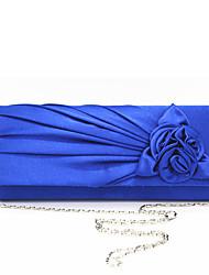 abordables -Femme Fleur Polyester / Soie Pochette Couleur unie Amande / Fuchsia / Bleu Ciel / Automne hiver