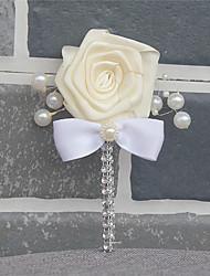 Недорогие -Свадебные цветы Бутоньерки Свадьба / Свадебные прием Шёлковая ткань рипсового переплетения / стекло 0-10 cm