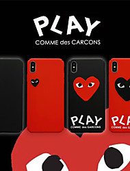 cheap -Case For Apple iPhone XS / iPhone XR / iPhone XS Max Frosted / Game case Back Cover Heart PC