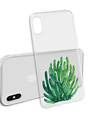 cheap -Case For iPhone XS Max X XR  8 Plus Back Case Soft Cactus Transparent Mobile Phone Case Waterproof Anti-Fall And Scratch Soft TM for iPhone 7 Plus 7 6 Plus 6 5 SE 5S 5 8
