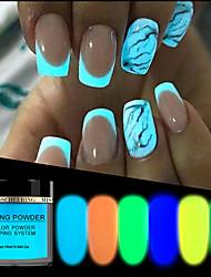 Недорогие -1 пот 10 мл светящиеся порошки для ногтей погружения светятся в темноте окунание блеск украшения долго последний уф-гель натуральный сухой без лампы вылечить новые поставки