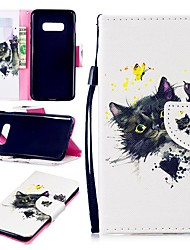 cheap -Case For Samsung Galaxy S9 / S9 Plus / S8 Plus Wallet / Card Holder / Shockproof Full Body Cases Cat Hard PU Leather