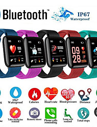 cheap -D13 Smartwatch BT Fitness Tracker Support Notify/ Blood Pressure Measurement Sport Smart Watch for Samsung/ Iphone/ Android Phones
