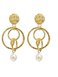 cheap -Women's Drop Earrings Vintage Style Drop Tropical Romantic Imitation Pearl Earrings Jewelry Gold For Gift Festival 1 Pair