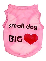 cheap -Dog Vest Puppy Clothes Heart Quotes & Sayings Sweet Style Simple Style Dog Clothes Puppy Clothes Dog Outfits Black Fuchsia Blue Costume for Girl and Boy Dog Polyester XS S M L