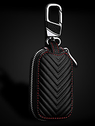 Недорогие -кожаный брелок для ключей сумка для автомобиля бежевый черный кейс кошелек сумка