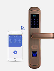 cheap -Factory OEM A2 Stainless Steel Intelligent Lock Smart Home Security System RFID / Fingerprint unlocking / Password unlocking Home / Office Security Door (Unlocking Mode Fingerprint / Password
