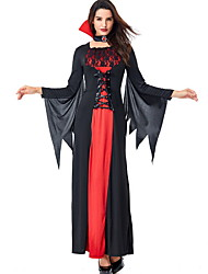 cheap -Vampire Diaries Costume Women's Fairytale Theme Halloween Performance Cosplay Costumes Theme Party Costumes Women's Dance Costumes Terylene Lace-up