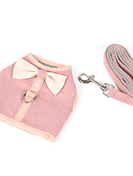 cheap -Dog Cat Harness Coat Harness Puppy Clothes Solid Colored Simple Style Casual / Sporty Outdoor Dog Clothes Puppy Clothes Dog Outfits Pink Green Light Blue Costume for Girl and Boy Dog Padded Fabric Net
