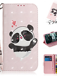 cheap -Case For Sony Sony Xperia L3 / Sony Xperia 10 / Sony Xperia 10 Plus Wallet / Card Holder / with Stand Full Body Cases Animal / 3D Cartoon PU Leather