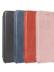 cheap -Case For Apple iPhone 7 Plus / iPhone 6 Flip Back Cover Solid Colored Hard Genuine Leather for iPhone 6 / iPhone 6 Plus / iPhone 6s