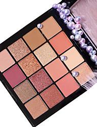 Недорогие -16 цветов Тени Тени для век Pro / Прост в применении Офис Повседневный макияж косметический