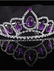 cheap -Rhinestone / Alloy Tiaras / Hair Accessory with Trim / Crystals / Rhinestones 1 Piece Wedding / Party / Evening Headpiece