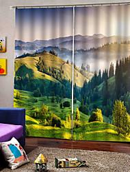 Недорогие -Горячие продажи 3d печать горный пейзаж занавес водонепроницаемый плотные шторы многофункциональный 100% полиэстер занавес для спальни гостиной