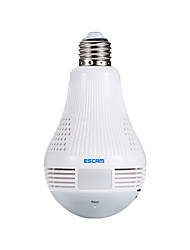 cheap -ESCAM QP136 1.3MP 360 Degree Panoramic Bulb WIFI IP Camera