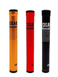 cheap -LUBINSKI Cigar Jar Tube Cigar Fingers Holders Humidor Cigar Moisturizing Case
