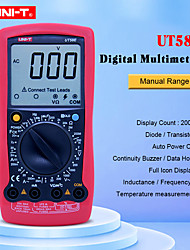 cheap -UNI-T UT58E Ammeter Multitester DMM Digital Multimeters DC/AC Voltage Current Resistance Capacitance Tester Data