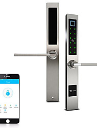 cheap -Mobile APP Smart Bluetooth Shift Door Lock Fingerprint Bluetooth Hook Lock Password Bluetooth Lock Broken Bridge Aluminum Bluetooth Lock
