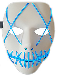 cheap -LED Mask Halloween Mask Inspired by Blue Green Adults' Men's Women's