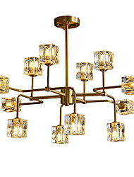 cheap -12 Bulbs ZHISHU 83 cm WIFI Control Chandelier Metal Glass Sputnik Industrial Painted Finishes Contemporary Chic & Modern 110-120V 220-240V