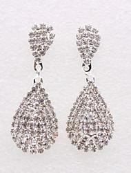 cheap -Women's Cubic Zirconia Earrings Pear Cut Drop Luxury Cute Imitation Diamond Earrings Jewelry Silver For Christmas Wedding Party Daily 1 Pair