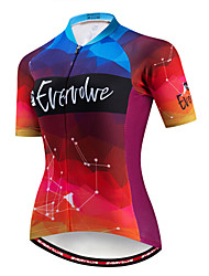 cheap -EVERVOLVE Women's Short Sleeve Cycling Jersey Black Lavender Burgundy Bike Jersey Top Mountain Bike MTB Road Bike Cycling Breathable Moisture Wicking Quick Dry Sports Cotton Polyster Lycra Clothing