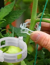 cheap -50pcs Plant Vines Fixed Clip Tied Buckle Lashing Hook Agricultural Greenhouse Vegetable Gadget Garden Plastic Planter Trelli