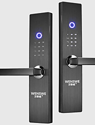 cheap -Fingerprint lock automatic password smart home electronic home security door lock semiconductor