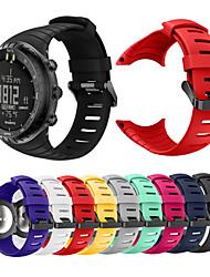 cheap -Smartwatch Band for SUUNTO CORE / SUUNTO CORE ALU Black Suunto Sport Band Fashion Soft Silicone Wrist Strap
