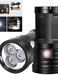 cheap -XM3 LED Flashlights / Torch Waterproof 2400 lm LED LED 3 Emitters Manual 3 Mode with USB Cable Waterproof Professional Anti-Shock Easy Carrying Durable Camping / Hiking / Caving Police / Military