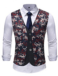 cheap -Polyester Wedding Party Vests 3D / Geometic