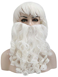 cheap -Santa Claus Wig + Beard Set Christmas Decorative Costume Accessory Adult Cosplay Fancy Dress