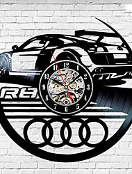 cheap -Audi Car Logo Vintage Decor Gift Vinyl Record Wall Clock Unique Gift saat