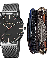 cheap -Men's Steel Band Watches Quartz Minimalist Chronograph Analog Golden+Black Rose Gold Black / Rose Gold / One Year / Stainless Steel