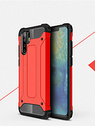 cheap -Shockproof Cover Phone Case For Huawei P30 Pro P30 Lite P30 Rubber Armor Hybrid PC Hard Cover For Huawei P20 Pro P20 Lite P20 P10 Plus P10 Lite P10 Silicone TPU Case