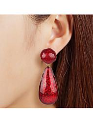 cheap -Women's Drop Earrings Dangle Earrings Drop Simple Classic European Earrings Jewelry Black / White / Red For Causal Daily 1 Pair