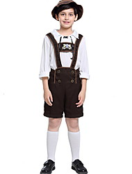cheap -Bavarian Costume Kids Boys' Vintage Theme Halloween Performance Cosplay Costumes Theme Party Costumes Boys' Kids' Dancewear Polyester Cap Outfits