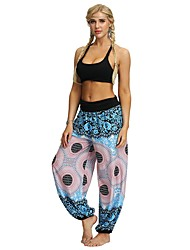 cheap -Women's Basic Harem Pants - Print Black Blue S / M / L